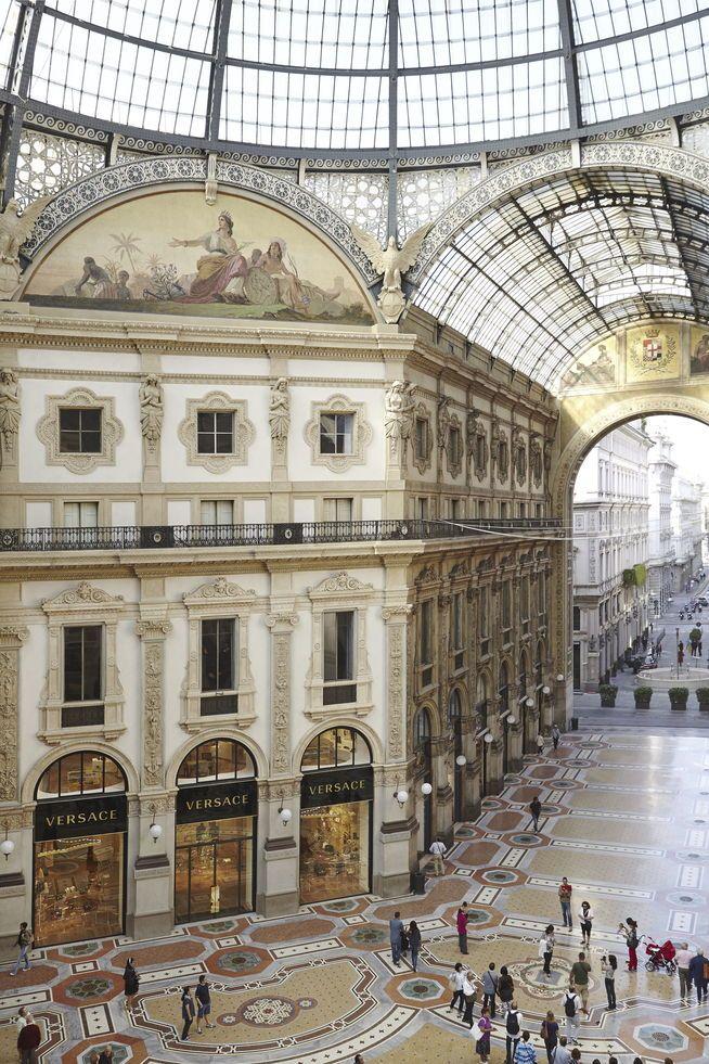 Die neue Versace-Boutique in der Galleria Vittorio Emanuele II