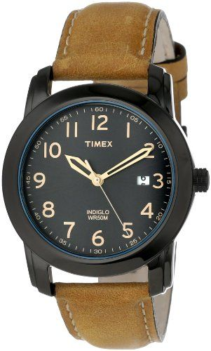 Timex Men's T2P1339J Elevated Classics Black Dial, Tan Leather Strap Watch - List price: $54.95 Price: $37.49 Saving: $17.46 (32%) + Free Shipping