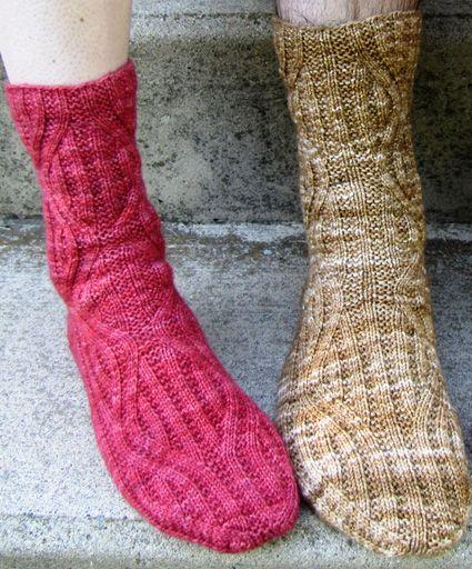 Patterned sock pattern knitty.com