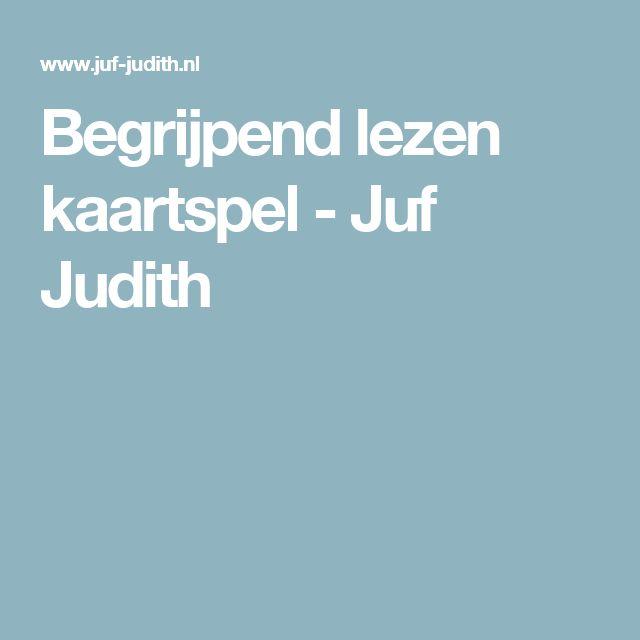 Begrijpend lezen kaartspel - Juf Judith