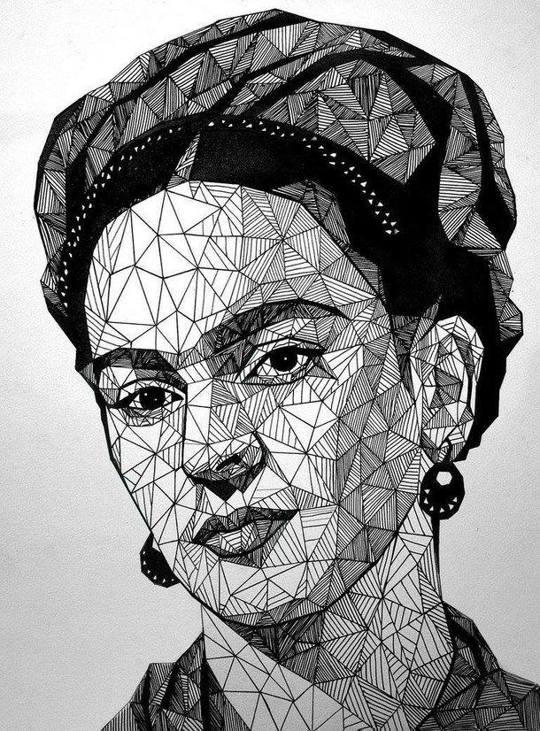 bampw-black-and-white-fan-art-frida-kahlo-Favim.com-2392690.jpg (610×826)
