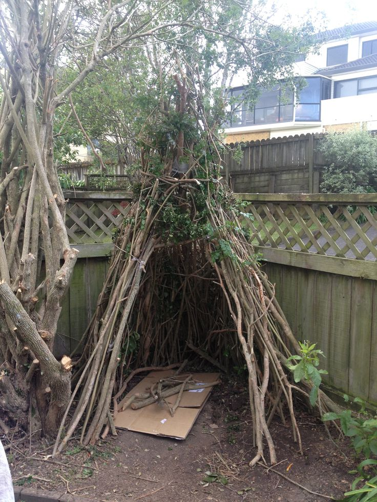 My home made TeePee  Just have to wrap the solar fairy lights around it & it's done :)