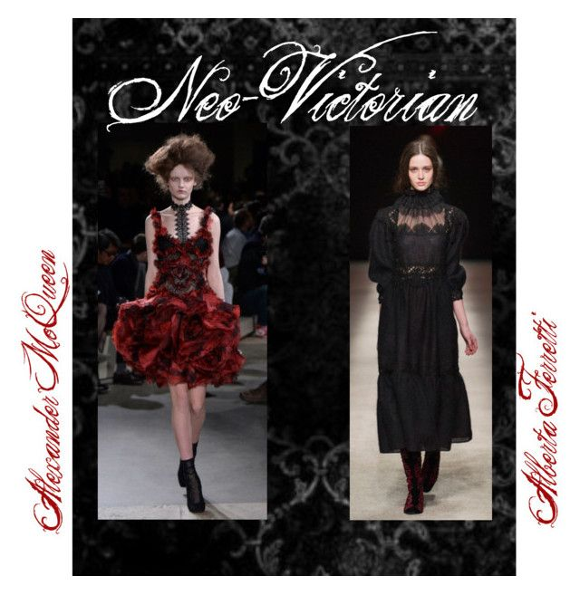 Autumn/Winter 2015 Trend; Neo-Victorian by kimearls on Polyvore featuring Alexander McQueen and Alberta Ferretti