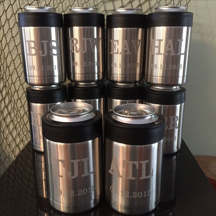 ETCHED YETI - Sandblast etched groomsman gifts on YETI Rambler designed and etched by Native Nut Meg. Can be personalized! Pricing starts at $15 per cup for sandblast etching (matte gray finish) or laser marking (high contrasting dark mark). While I etch the Yetis, I do not actually sell them because I work on all of the stainless tumblers on the market. They can all be customized with names, dates and graphics. Whatever brand tumbler you choose will need to be purchased separately.  For…