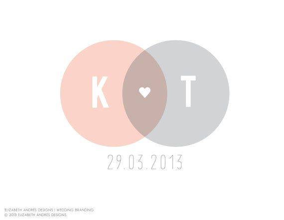 Wedding Logo / Kara / Overlapping Circles and by elizabethandres, $39.00