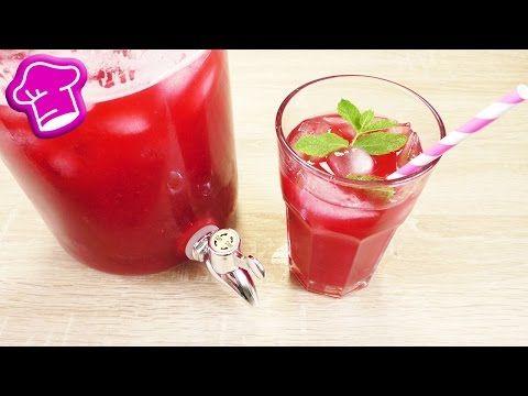 Himbeer EISTEE mit Pfefferminze | 2 Liter Eistee super einfach selber machen | Sommer Party Idee - YouTube