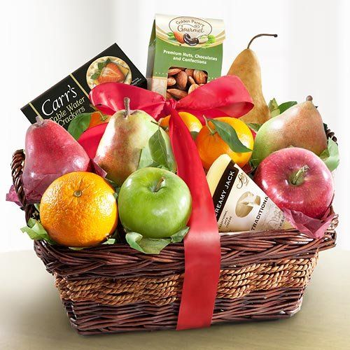 25 unique fruit baskets delivered ideas on pinterest fruit gift fruit cheese and nuts delight fruit basket gourmet gifts negle Images