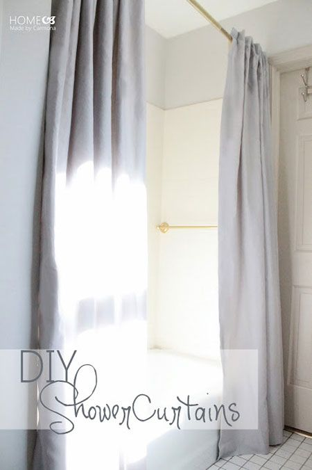 43 Best Images About Diy Fabric Shower Curtain On