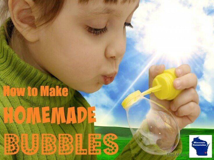 Nothing says summer than homemade bubbles. Make a large container of this kid-friendly concoctions with just a few ingredients from your kitchen. via @wihomemaker