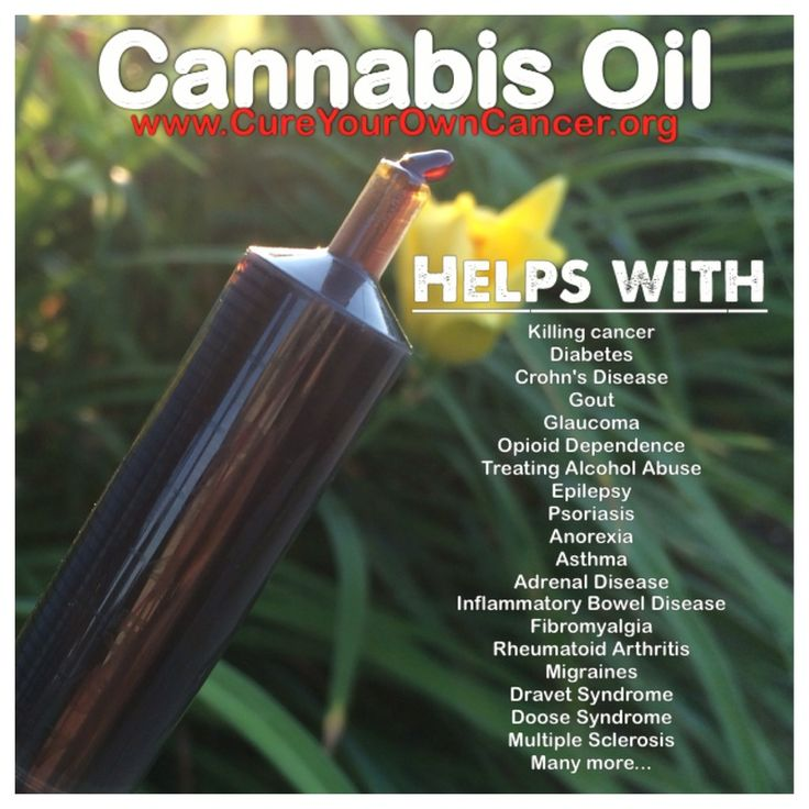 Picture; Cannabis oil helps with...