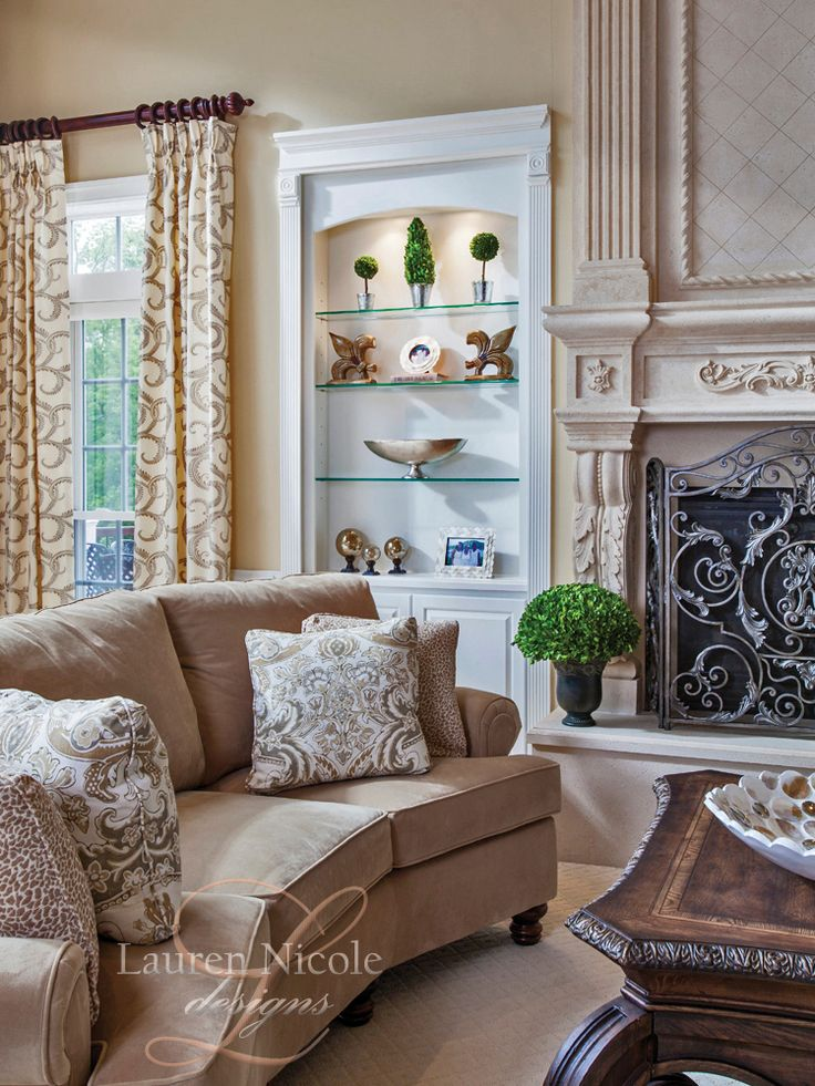 Lauren Nicole Designs | #LivingRoom Interior Design #Decor Charlotte NC