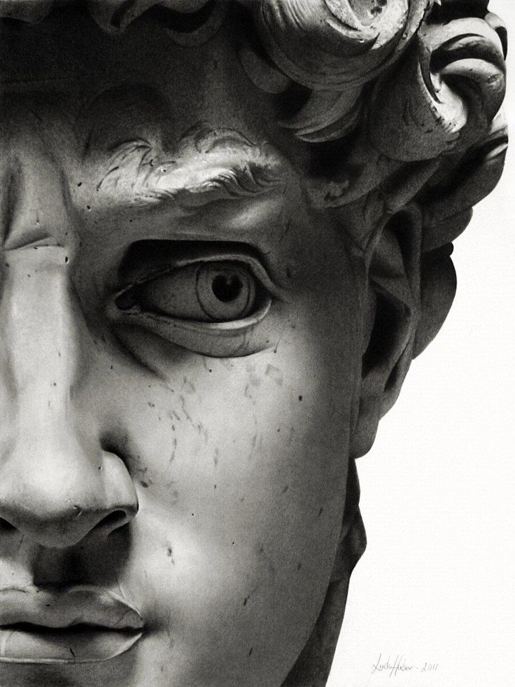 David by Michelangelo • 1504 • details; Carrara marble • Florence