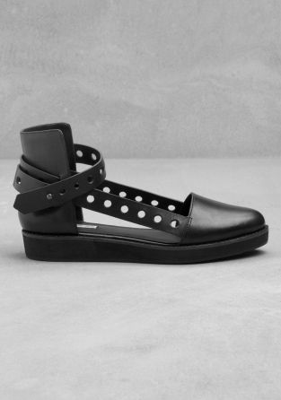 Leather flats - & other stories