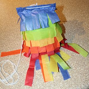 These free directions will show you how to make a pinata using a paper bag.: Finishing Your Pinata