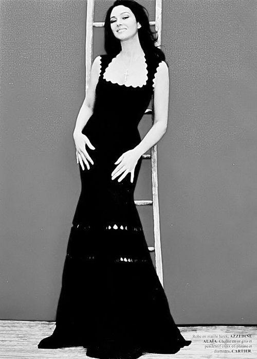 Monica Bellucci Black Dress Monica Bellucci In Black
