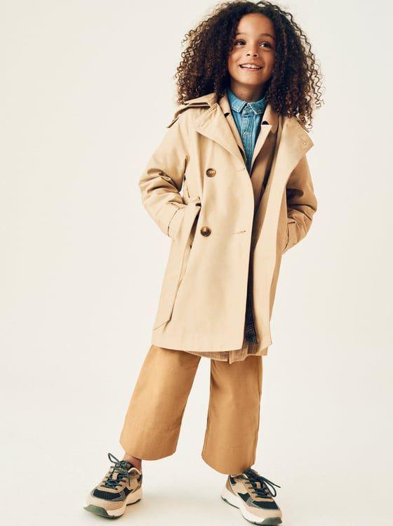 ZARA - KIDS - BASIC BUTTONED TRENCH COAT | Fashion, Kids ...