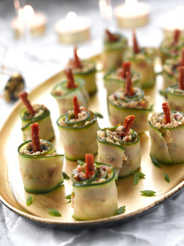 Finger Food Ideas Christmas Party Part - 20: Hereu0027s A Great Party Idea For New Yearu0027s Eve: Courgette Festive Candles