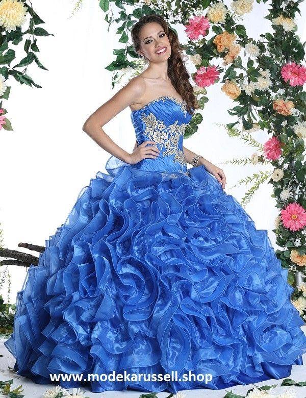 A Linie Abendkleid Sissy in Blau