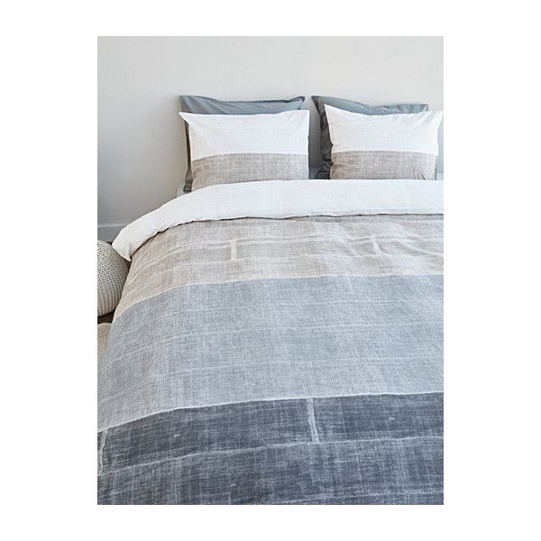 simons maison concrete stripe photo print duvet cover set 56 liked on polyvore