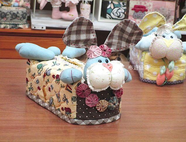www.wonderland22.com 布遊仙境* tissue box cover 腮幫兔面紙套