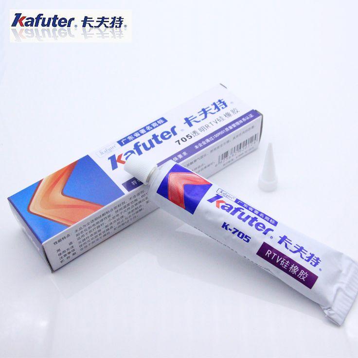 Free shipping Genuine Kafuter k-705 RTV Silicone Rubber Electronic Glue Sealant Transparent Organosilicon 45g hot sale in RU
