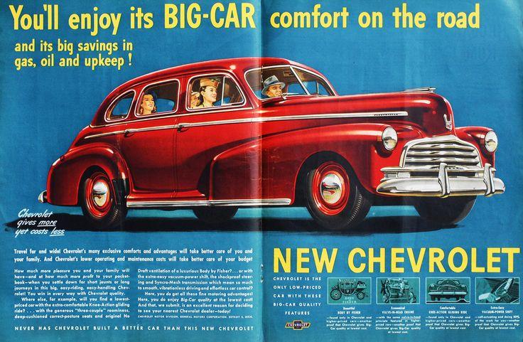 Vintage 1946 Chevrolet Ad #chevy #hoseltonsellschevys www.hoseltonchevrolet.com
