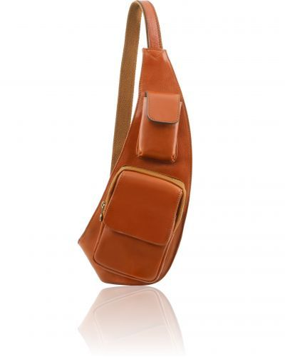 TL141352  Leather Crossover Bag