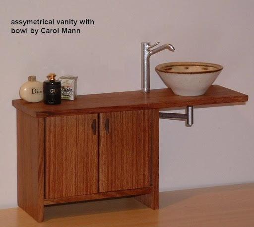 dollhouse miniature modern bath vanity