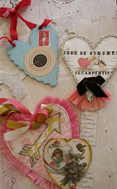 Pam Garrison: Paper Rose, Vintage Valentines, Crafts Ideas, Valentines Glitter, Paper Heart, Valentines Day, Handmade Valentines Cards, Pam Garrison, Vintage Inspiration