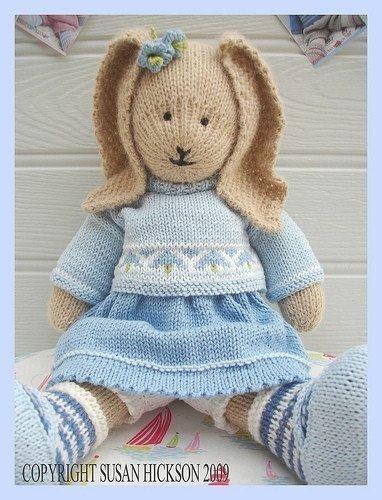BLUEBELL Rabbit Toy Knitting Pattern/Bunny Rabbit/ Pdf/ DIGITAL Instant Download/ Plus FREE 'Handmade Shoes' Knitting Pattern