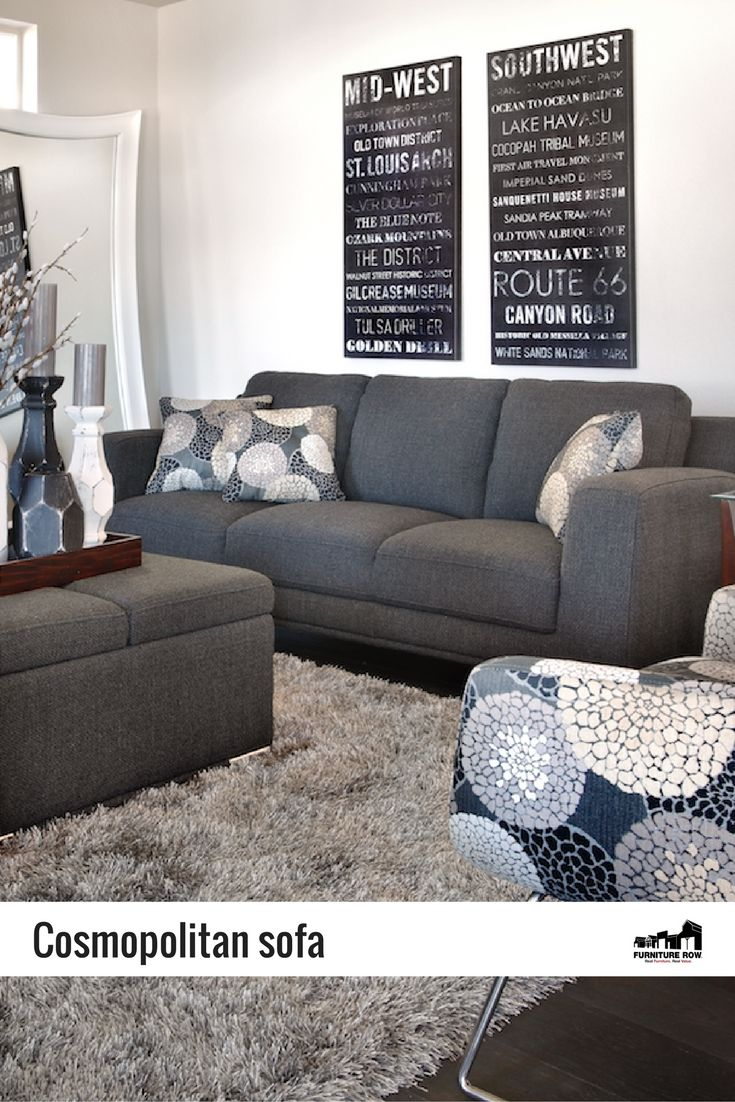 In Soft Steel Gray, The Cosmopolitan Sofa Is The Polished Piece That Is  Bound