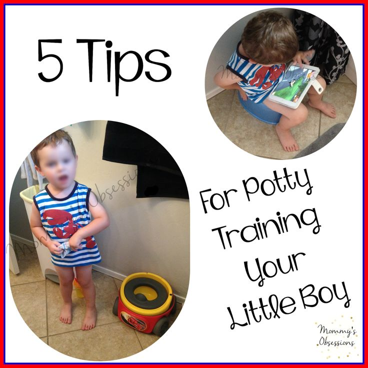 5 Tips to Potty Training Your Little Boy