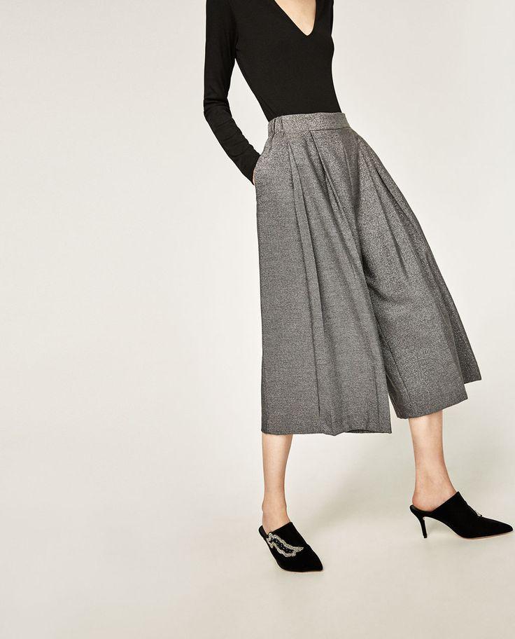 image 1 de pantalon type jupe culotte de zara inspirations pinterest zara united states. Black Bedroom Furniture Sets. Home Design Ideas