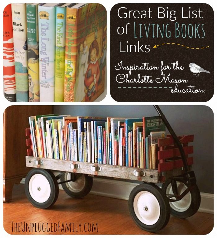 Looking for some new books? Check out this great big list of living books from Unplugged Family.