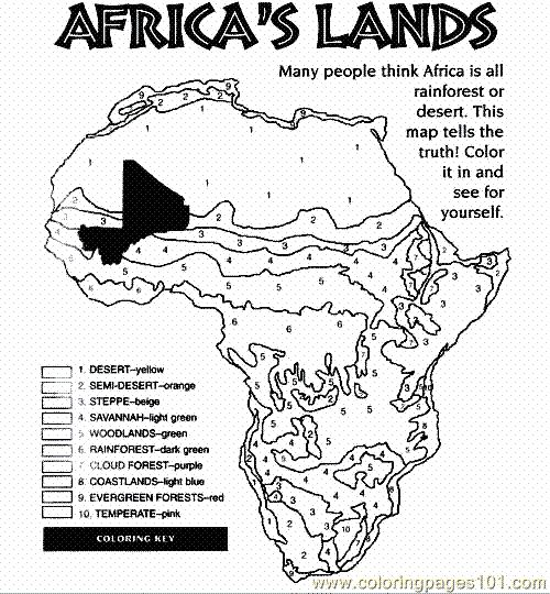 Here's a coloring page on the biomes found in Africa. Not