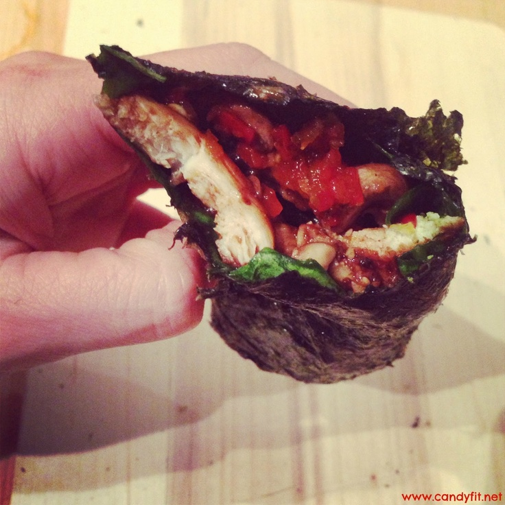 *CaNdY FiT*: #RECIPEFRIDAY: Low Carb Chicken Seaweed Wrap!