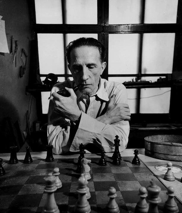 """I am still a victim of chess. It has all the beauty of art — and much more. It cannot be commercialized. Chess is much purer than art in its social position."" - Marcel Duchamp"