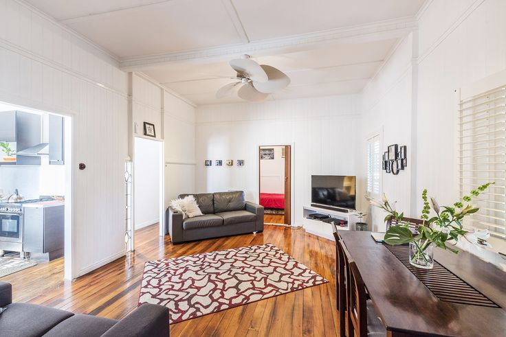 HAWTHORNE 17 Riding Road...Light filled and comfortable, the open plan and air conditioned living and dining area is adorned with polished timber floors, VJ walls and high ceilings.