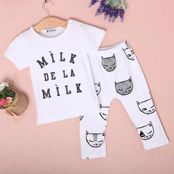 Adorable Baby 2 Piece Cat Outfit