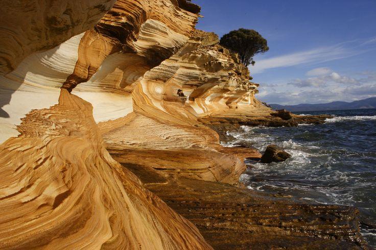 Tasmania, Australia Painted Cliffs - Maria Island