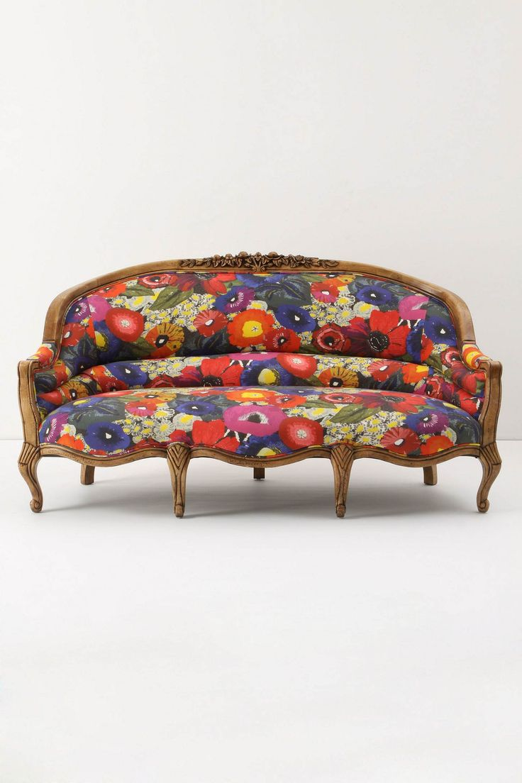 Amelie Sofa, Blazing Poppies from Anthropologie: Blazing Poppies, Floral Prints, Living Rooms, Couch, Amelie, Color, House, Furniture, Ame Sofas