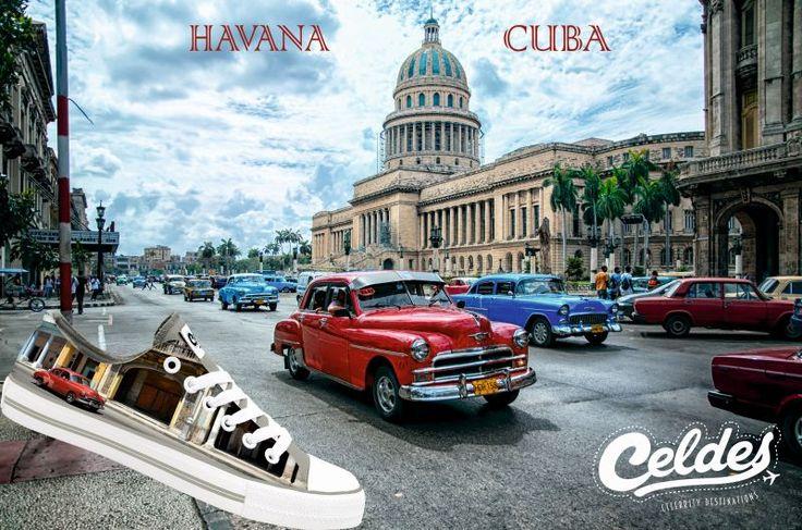 Cuba 🇨🇺  Find it at: http://celdes.com/all/781-old-red-car-havana.html #exploreceldes #exploretheworld #cuba