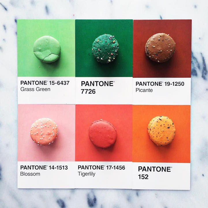 Designer Creatively Pairs Food with Their Pantone Swatch Colors