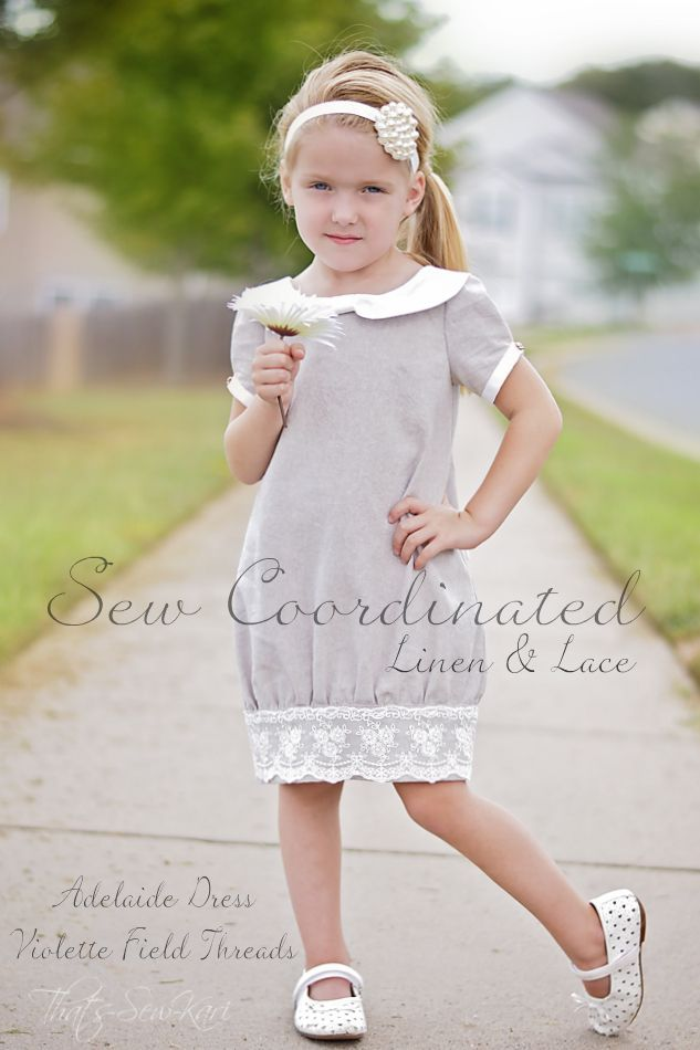 {Sew Coordinated} Special Edition: Linen and Lace -- {Violette Field Threads - Adelaide Dress}
