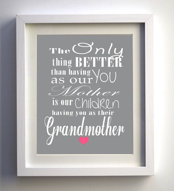 Mother's Day Gift Unique print Grandmother gift quote chalkboard art, Digital Art Print, Personalized Printable Art, .jpg downloadable file