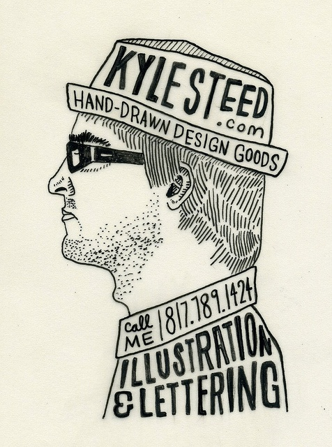 kyle steed, illustration - business card