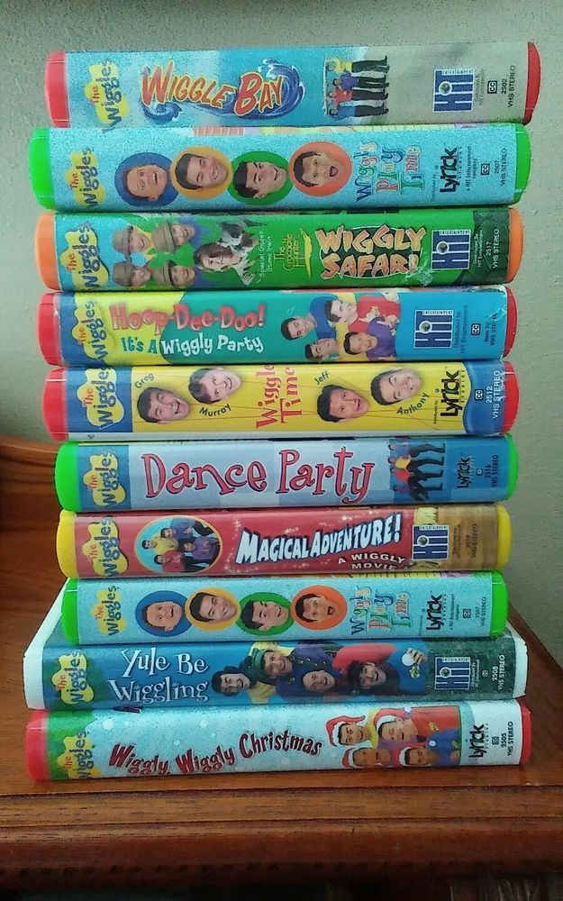 vhs wiggles disney lot channel tapes sing dance dancing singing fox hound sword stone