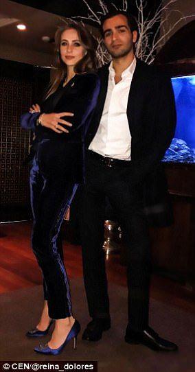 Stylish couple: Newly married Lolita Osmanova and Gaspar Avdolyan strike a pose...