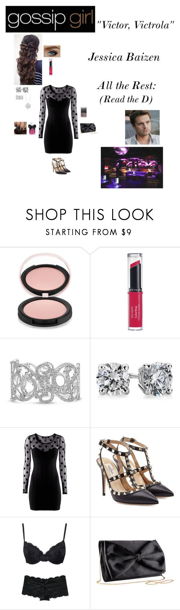 """""""Gossip Girl - S1E7 - *Victor, Victrola*"""" by c-a-marie2000 ❤ liked on Polyvore featuring Estelle & Thild, Revlon, Juicy Couture, Sebastian Professional, Bling Jewelry, Blue Nile, H&M, Valentino, Marie Meili and BERRICLE"""