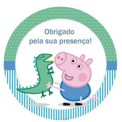 George Pig – Kit festa infantil grátis para imprimir – Inspire sua Festa ®